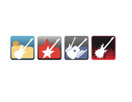 Rock Music Tablet Icons by TEillustrator