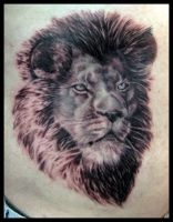 lion tattoo by sooj
