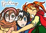 OC Pigtail Challenge - Annalise, Pepper, and Alice by NightSummerRain