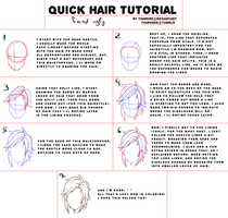 Hair lineart explanation by Tharene