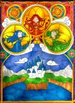 The Legend of Hyrule Stained Glass by ZettaAwesome
