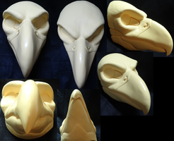 Uncut Large Predator Bird Mask by DreamVisionCreations