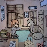 Anime drawing : Room with two People by ineedpractice