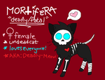 NEW CHAR: MORTIFERA by Deadly-Meow