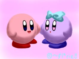 Kirby and Kirly by clariecandy