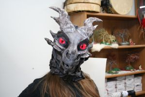 Alduin: I'm watching you, mortal. by BlueEyes9