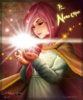 lady with shine light by keilelsun