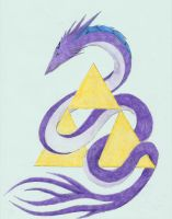 Triforce Dragon Colored by Soulful-Purple-Wolf