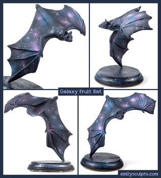 Galaxy Fruit Bat by emilySculpts