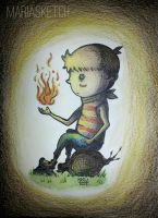 Fire. | Illustration for Children by MariaSketch
