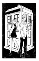 The 11th and Amy Pond Inks by Hodges-Art