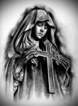 Tattoo Design | Virgin Mary by badfish1111