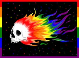 Flaming pride skull by ScorpionsKissx