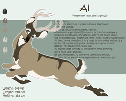 .: Deer Ai Sheet Ref :. by PirateHearts