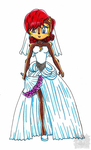 Sally acorn - wedding dress by aprict