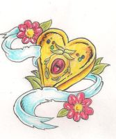 Gold heart by Mr-P-P-Hed
