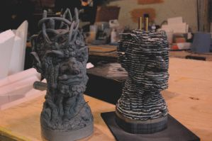 The cast maquette in slices! by BenPhillips