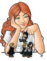 Lily and the marauders -color- by Dailan