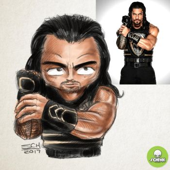 Roman Reigns Sketch by SCHink23