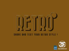 Retro PSD Layer Style Effect by zestladesign