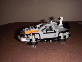 Lego DeLorean from Back to the Future Hovering by BrigadierDarman