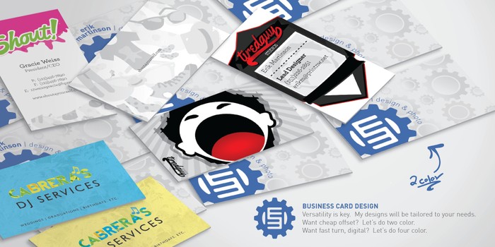 Business Cards by minotaurfayt