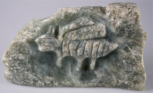 Pictograph Bee - Bas Relief by caerul