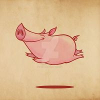 Flying Pig by Vahid-Fazel