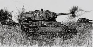KV-1 in the Field by shank117