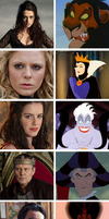 Merlin meets Disney: villians by SingerofIceandFire