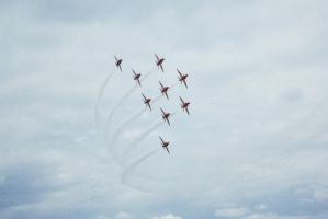 Red Arrows Diamond by sentinel28a