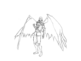 Castiel Uncolored by WolfMK47
