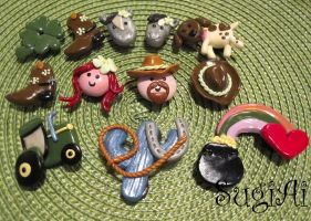 Cowboy themed Magnets by SugiAi