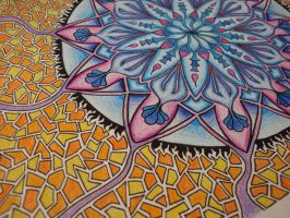 Color Mandala Detail by ballofplasma