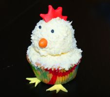 Little Chicken Cupcake by VPofFantasyland
