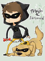 OC - Petman and Bartholomew by SpaceMink