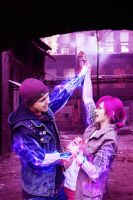 Delsin Rowe and Fetch by Bad-Llama