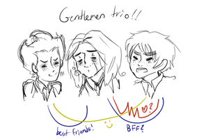 Gentlemen trio (Don't Starve, Amnesia, Hetalia) by Tomato-the-Capricorn