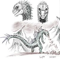 Gojira-sketches 2 by JuneCat