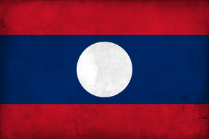 Grunge Flag of Laos by pnkrckr
