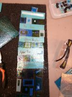 UNFINISHED fused glass wall hanging 3 by scarlett-stephanie