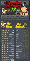 The Assassin - Game Sprites by pzUH