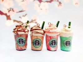 Starbucks Clay Charms by janelleLOVESudon
