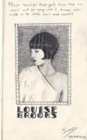 Sketch - Louise Brooks by Andreth