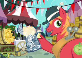 Peter New/ Big Mac GalaCon Autograph Card by PixelKitties