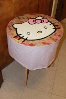 Floral Hello Kitty (inspired) Table by Ashleyley92