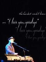 The hardest words I know are I love you goodbye by CrystalSister