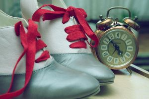 Shoes a clock by pinyty
