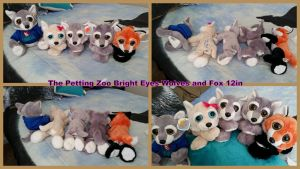 The petting zoo bright eyes Wolves and fox by Vesperwolfy87