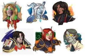 [commission] wow busts 10 by SirMeo